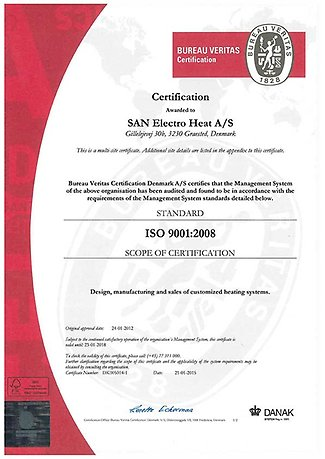 SAN ISO 9001 Certificate